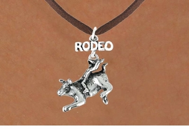 "<bR>               EXCLUSIVELY OURS!!<Br>         AN ALLAN ROBIN DESIGN!!<BR>CLICK HERE TO SEE 120+ EXCITING<BR>   CHANGES THAT YOU CAN MAKE!<BR>              LEAD & NICKEL FREE!!<BR>   W611SN - ""RODEO"" BULL RIDER<BR>     & NECKLACE AS LOW AS $4.50"