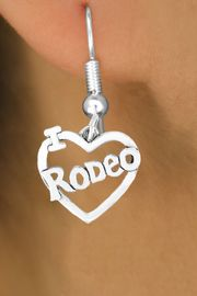 """<bR>               EXCLUSIVELY OURS!!<Br>         AN ALLAN ROBIN DESIGN!!<BR>CLICK HERE TO SEE 120+ EXCITING<BR>   CHANGES THAT YOU CAN MAKE!<BR>              LEAD & NICKEL FREE!!<BR>        W612SE - """"I LOVE RODEO""""<Br>    & EARRINGS FROM $4.50 TO $8.35"""