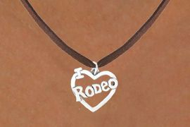 """<bR>               EXCLUSIVELY OURS!!<Br>         AN ALLAN ROBIN DESIGN!!<BR>CLICK HERE TO SEE 120+ EXCITING<BR>   CHANGES THAT YOU CAN MAKE!<BR>              LEAD & NICKEL FREE!!<BR>         W612SN - """"I LOVE RODEO""""<BR>     & NECKLACE AS LOW AS $4.50"""