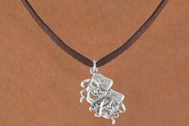 """<bR>               EXCLUSIVELY OURS!!<Br>         AN ALLAN ROBIN DESIGN!!<BR>CLICK HERE TO SEE 120+ EXCITING<BR>   CHANGES THAT YOU CAN MAKE!<BR>              LEAD & NICKEL FREE!!<BR>        W616SN - """"DRAMA MASKS""""<BR>     & NECKLACE AS LOW AS $4.50"""