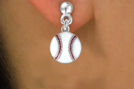 <bR>               EXCLUSIVELY OURS!<BR>              LEAD, & NICKEL, CADMIUM FREE!!<BR>       W617SE - SMALL BASEBALL<Br>     & EARRINGS FROM $6.85 EACH