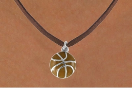 <bR>               EXCLUSIVELY OURS!!<Br>         AN ALLAN ROBIN DESIGN!!<BR>CLICK HERE TO SEE 120+ EXCITING<BR>   CHANGES THAT YOU CAN MAKE!<BR>              LEAD & NICKEL FREE!!<BR>    W619SN - SMALL BASKETBALL<BR>     & NECKLACE AS LOW AS $4.50