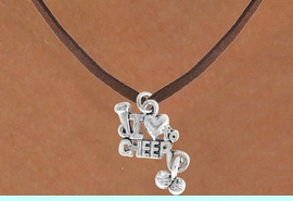 """<bR>              EXCLUSIVELY OURS!!<Br>         AN ALLAN ROBIN DESIGN!!<BR>CLICK HERE TO SEE 120+ EXCITING<BR>   CHANGES THAT YOU CAN MAKE!<BR>             LEAD & NICKEL FREE!!<BR>      W623SN - """"I LOVE TO CHEER""""<BR>     & NECKLACE AS LOW AS $4.50"""