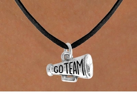 "<bR>                EXCLUSIVELY OURS!!<Br>           AN ALLAN ROBIN DESIGN!!<BR>  CLICK HERE TO SEE 120+ EXCITING<BR>     CHANGES THAT YOU CAN MAKE!<BR>               LEAD & NICKEL FREE!!<BR>W624SN - ""GO TEAM!"" MEGAPHONE<BR>       & NECKLACE AS LOW AS $4.50"