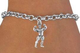 <bR>               EXCLUSIVELY OURS!!<Br>         AN ALLAN ROBIN DESIGN!!<BR>CLICK HERE TO SEE 120+ EXCITING<BR>  CHANGES THAT YOU CAN MAKE!<BR>             LEAD & NICKEL FREE!!<BR>         W626SB - BODYBUILDER<Br>     & BRACELET AS LOW AS $4.50