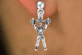 <bR>                EXCLUSIVELY OURS!!<Br>          AN ALLAN ROBIN DESIGN!!<BR> CLICK HERE TO SEE 120+ EXCITING<BR>    CHANGES THAT YOU CAN MAKE!<BR>               LEAD & NICKEL FREE!!<BR>           W628SE - WEIGHTLIFTER<Br>      & EARRINGS FROM $4.50 TO $8.35