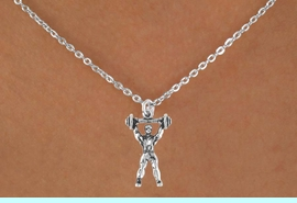 <bR>              EXCLUSIVELY OURS!!<Br>         AN ALLAN ROBIN DESIGN!!<BR>CLICK HERE TO SEE 120+ EXCITING<BR>  CHANGES THAT YOU CAN MAKE!<BR>             LEAD & NICKEL FREE!!<BR>        W628SN - WEIGHTLIFTER<BR>    & NECKLACE AS LOW AS $4.50