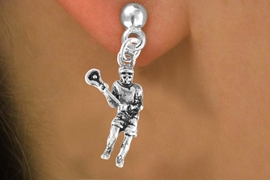 <bR>                EXCLUSIVELY OURS!!<Br>          AN ALLAN ROBIN DESIGN!!<BR> CLICK HERE TO SEE 120+ EXCITING<BR>    CHANGES THAT YOU CAN MAKE!<BR>               LEAD & NICKEL FREE!!<BR>       W631SE - LACROSSE PLAYER<Br>      & EARRINGS FROM $4.50 TO $8.35