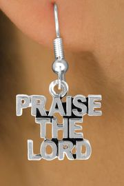 "<bR>                EXCLUSIVELY OURS!!<Br>          AN ALLAN ROBIN DESIGN!!<BR> CLICK HERE TO SEE 120+ EXCITING<BR>    CHANGES THAT YOU CAN MAKE!<BR>               LEAD & NICKEL FREE!!<BR>      W636SE - ""PRAISE THE LORD""<Br>      & EARRINGS FROM $4.50 TO $8.35"