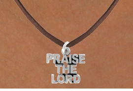 "<bR>              EXCLUSIVELY OURS!!<Br>         AN ALLAN ROBIN DESIGN!!<BR>CLICK HERE TO SEE 120+ EXCITING<BR>  CHANGES THAT YOU CAN MAKE!<BR>             LEAD & NICKEL FREE!!<BR>     W636SN - ""PRAISE THE LORD""<BR>    & NECKLACE AS LOW AS $4.50"
