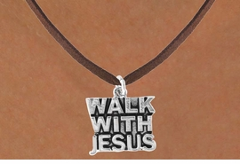 "<bR>              EXCLUSIVELY OURS!!<Br>         AN ALLAN ROBIN DESIGN!!<BR>CLICK HERE TO SEE 120+ EXCITING<BR>  CHANGES THAT YOU CAN MAKE!<BR>             LEAD & NICKEL FREE!!<BR>    W637SN - ""WALK WITH JESUS""<BR>     & NECKLACE AS LOW AS $4.50"