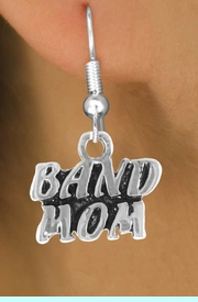"""<bR>                EXCLUSIVELY OURS!!<Br>          AN ALLAN ROBIN DESIGN!!<BR> CLICK HERE TO SEE 120+ EXCITING<BR>    CHANGES THAT YOU CAN MAKE!<BR>               LEAD & NICKEL FREE!!<BR>        W638SE - """"BAND MOM"""" &<Br>        EARRINGS FROM $4.50 TO $8.35"""