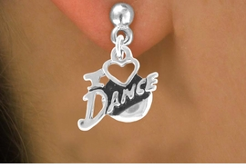 "<bR>                EXCLUSIVELY OURS!!<Br>          AN ALLAN ROBIN DESIGN!!<BR> CLICK HERE TO SEE 120+ EXCITING<BR>    CHANGES THAT YOU CAN MAKE!<BR>               LEAD & NICKEL FREE!!<BR>         W639SE - ""I LOVE DANCE""<Br>      & EARRINGS FROM $4.50 TO $8.35"