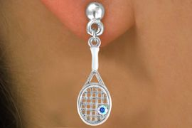 <bR>               EXCLUSIVELY OURS!!<Br>         AN ALLAN ROBIN DESIGN!!<BR> CLICK HERE TO SEE 120+ EXCITING<BR>   CHANGES THAT YOU CAN MAKE!<BR>              LEAD & NICKEL FREE!!<BR>   W642SE - TENNIS RACKET WITH<Br>      AUORORA BOREALIS CRYSTAL<Br>      & EARRINGS FROM $4.50 TO $8.35