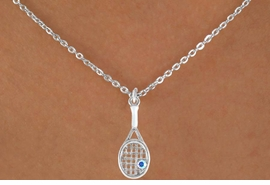 <bR>              EXCLUSIVELY OURS!!<Br>         AN ALLAN ROBIN DESIGN!!<BR>CLICK HERE TO SEE 120+ EXCITING<BR>  CHANGES THAT YOU CAN MAKE!<BR>             LEAD & NICKEL FREE!!<BR>  W642SN - TENNIS RACKET WITH<Br>       SPARKLING CLEAR CRYSTAL<BR>    & NECKLACE AS LOW AS $4.05