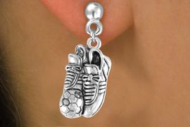 <bR>                 EXCLUSIVELY OURS!!<Br>           AN ALLAN ROBIN DESIGN!!<BR>  CLICK HERE TO SEE 120+ EXCITING<BR>     CHANGES THAT YOU CAN MAKE!<BR>                LEAD & NICKEL FREE!!<BR>   W643SE - SOCCER SHOES & BALL<Br>       & EARRINGS FROM $4.50 TO $8.35