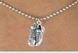 <bR>                EXCLUSIVELY OURS!!<Br>           AN ALLAN ROBIN DESIGN!!<BR>  CLICK HERE TO SEE 120+ EXCITING<BR>    CHANGES THAT YOU CAN MAKE!<BR>               LEAD & NICKEL FREE!!<BR>   W643SN - SOCCER SHOES & BALL<BR>       & NECKLACE AS LOW AS $4.50