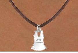 """<bR>              EXCLUSIVELY OURS!!<Br>         AN ALLAN ROBIN DESIGN!!<BR>CLICK HERE TO SEE 120+ EXCITING<BR>  CHANGES THAT YOU CAN MAKE!<BR>             LEAD & NICKEL FREE!!<BR> W644SN - """"LOVE"""" TENNIS DRESS<BR>     & NECKLACE AS LOW AS $4.05"""