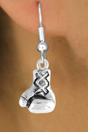 <bR>                EXCLUSIVELY OURS!!<Br>          AN ALLAN ROBIN DESIGN!!<BR> CLICK HERE TO SEE 120+ EXCITING<BR>    CHANGES THAT YOU CAN MAKE!<BR>               LEAD & NICKEL FREE!!<BR>   W645SE - SILVER BOXING GLOVE<Br>  & EARRINGS FROM $4.50 TO $8.35