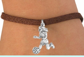 <bR>              EXCLUSIVELY OURS!!<Br>        AN ALLAN ROBIN DESIGN!!<BR>CLICK HERE TO SEE 120+ EXCITING<BR>  CHANGES THAT YOU CAN MAKE!<BR>             LEAD & NICKEL FREE!!<BR>  W646SB - GIRL SOCCER PLAYER<Br>     & BRACELET AS LOW AS $3.65