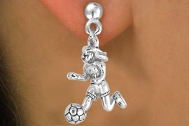 <bR>                EXCLUSIVELY OURS!!<Br>          AN ALLAN ROBIN DESIGN!!<BR> CLICK HERE TO SEE 120+ EXCITING<BR>    CHANGES THAT YOU CAN MAKE!<BR>               LEAD & NICKEL FREE!!<BR>    W646SE - GIRL SOCCER PLAYER<Br>      & EARRINGS FROM $4.50 TO $8.35