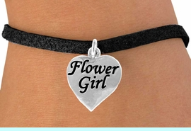 """<bR>               EXCLUSIVELY OURS!!<Br>         AN ALLAN ROBIN DESIGN!!<BR>CLICK HERE TO SEE 120+ EXCITING<BR>   CHANGES THAT YOU CAN MAKE!<BR>              LEAD & NICKEL FREE!!<BR> W651SB - """"FLOWER GIRL"""" HEART<Br>      & BRACELET FROM $4.50 TO $8.35"""