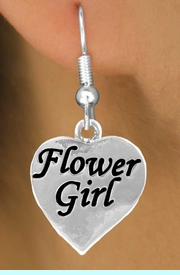 """<bR>                EXCLUSIVELY OURS!!<Br>          AN ALLAN ROBIN DESIGN!!<BR> CLICK HERE TO SEE 120+ EXCITING<BR>    CHANGES THAT YOU CAN MAKE!<BR>               LEAD & NICKEL FREE!!<BR>  W651SE - """"FLOWER GIRL"""" HEART<Br>      & EARRINGS FROM $4.50 TO $8.35"""