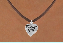 """<bR>               EXCLUSIVELY OURS!!<Br>          AN ALLAN ROBIN DESIGN!!<BR>CLICK HERE TO SEE 120+ EXCITING<BR>   CHANGES THAT YOU CAN MAKE!<BR>              LEAD & NICKEL FREE!!<BR> W651SN - """"FLOWER GIRL"""" HEART<BR>    & NECKLACE AS LOW AS $4.05"""