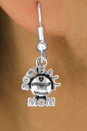 """<bR>                EXCLUSIVELY OURS!!<Br>          AN ALLAN ROBIN DESIGN!!<BR> CLICK HERE TO SEE 120+ EXCITING<BR>    CHANGES THAT YOU CAN MAKE!<BR>               LEAD & NICKEL FREE!!<BR>       W652SE - """"SOFTBALL MOM""""<Br>      & EARRINGS FROM $4.50 TO $8.35"""