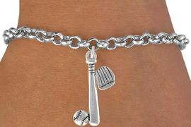 <bR>                         EXCLUSIVELY OURS!!<Br>                   AN ALLAN ROBIN DESIGN!!<BR>          CLICK HERE TO SEE 120+ EXCITING<BR>              CHANGES THAT YOU CAN MAKE!<BR>                        LEAD & NICKEL FREE!!<BR> W653SB - BASEBALL / SOFTBALL GLOVE, BAT,<Br>          & BALL BRACELET FROM $4.50 TO $8.35