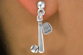 <bR>                          EXCLUSIVELY OURS!!<Br>                    AN ALLAN ROBIN DESIGN!!<BR>          CLICK HERE TO SEE 120+ EXCITING<BR>              CHANGES THAT YOU CAN MAKE!<BR>                         LEAD & NICKEL FREE!!<BR>  W653SE - BASEBALL / SOFTBALL BAT, GLOVE,<Br>          & BALL EARRINGS FROM $4.50 TO $8.35