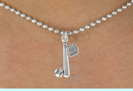 <bR>                          EXCLUSIVELY OURS!!<Br>                    AN ALLAN ROBIN DESIGN!!<BR>          CLICK HERE TO SEE 120+ EXCITING<BR>              CHANGES THAT YOU CAN MAKE!<BR>                         LEAD & NICKEL FREE!!<BR>  W653SN - BASEBALL / SOFTBALL BAT, GLOVE,<Br>          & BALL NECKLACE FROM $4.50 TO $8.35