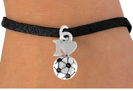 "<bR>               EXCLUSIVELY OURS!!<Br>         AN ALLAN ROBIN DESIGN!!<BR>CLICK HERE TO SEE 120+ EXCITING<BR>   CHANGES THAT YOU CAN MAKE!<BR>              LEAD & NICKEL FREE!!<BR>        W654SB - ""I LOVE SOCCER""<Br>      & BRACELET FROM $4.50 TO $8.35"