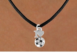 """<bR>              EXCLUSIVELY OURS!!<Br>         AN ALLAN ROBIN DESIGN!!<BR>CLICK HERE TO SEE 120+ EXCITING<BR>   CHANGES THAT YOU CAN MAKE!<BR>             LEAD & NICKEL FREE!!<BR>        W654SN - """"I LOVE SOCCER""""<BR>     & NECKLACE AS LOW AS $4.05"""