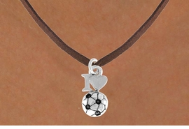 "<bR>              EXCLUSIVELY OURS!!<Br>         AN ALLAN ROBIN DESIGN!!<BR>CLICK HERE TO SEE 120+ EXCITING<BR>   CHANGES THAT YOU CAN MAKE!<BR>             LEAD & NICKEL FREE!!<BR>        W654SN - ""I LOVE SOCCER""<BR>     & NECKLACE AS LOW AS $4.05"