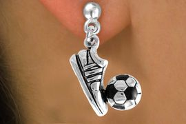 <bR>                EXCLUSIVELY OURS!!<Br>          AN ALLAN ROBIN DESIGN!!<BR> CLICK HERE TO SEE 120+ EXCITING<BR>    CHANGES THAT YOU CAN MAKE!<BR>               LEAD & NICKEL FREE!!<BR>   W655SE - SOCCER BALL & SHOE<Br>      & EARRINGS FROM $4.50 TO $8.35