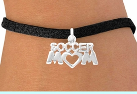 """<bR>               EXCLUSIVELY OURS!!<Br>         AN ALLAN ROBIN DESIGN!!<BR>CLICK HERE TO SEE 120+ EXCITING<BR>   CHANGES THAT YOU CAN MAKE!<BR>              LEAD & NICKEL FREE!!<BR>         W657SB - """"SOCCER MOM""""<Br>      & BRACELET FROM $4.50 TO $8.35"""