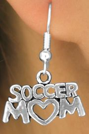 """<bR>                EXCLUSIVELY OURS!!<Br>          AN ALLAN ROBIN DESIGN!!<BR> CLICK HERE TO SEE 120+ EXCITING<BR>    CHANGES THAT YOU CAN MAKE!<BR>               LEAD & NICKEL FREE!!<BR>          W657SE - """"SOCCER MOM""""<Br>      & EARRINGS FROM $4.50 TO $8.35"""