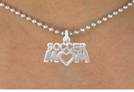 """<bR>              EXCLUSIVELY OURS!!<Br>         AN ALLAN ROBIN DESIGN!!<BR>CLICK HERE TO SEE 120+ EXCITING<BR>   CHANGES THAT YOU CAN MAKE!<BR>             LEAD & NICKEL FREE!!<BR>        W657SN - """"SOCCER MOM""""<BR>    & NECKLACE AS LOW AS $4.05"""