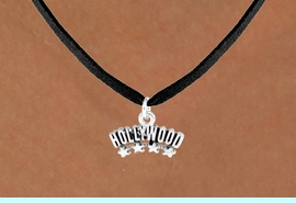 """<bR>               EXCLUSIVELY OURS!!<Br>         AN ALLAN ROBIN DESIGN!!<BR>CLICK HERE TO SEE 120+ EXCITING<BR>   CHANGES THAT YOU CAN MAKE!<BR>              LEAD & NICKEL FREE!!<BR>W659SN -  """"HOLLYWOOD"""" CHARM<Br>   NECKLACE FROM $4.50 TO $8.35"""