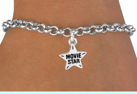 """<bR>               EXCLUSIVELY OURS!!<Br>         AN ALLAN ROBIN DESIGN!!<BR>CLICK HERE TO SEE 120+ EXCITING<BR>   CHANGES THAT YOU CAN MAKE!<BR>              LEAD & NICKEL FREE!!<BR> W660SB -  """"MOVIE STAR"""" CHARM<Br> & BRACELET FROM $4.50 TO $8.35"""