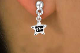 """<bR>               EXCLUSIVELY OURS!!<Br>        AN ALLAN ROBIN DESIGN!!<BR>CLICK HERE TO SEE 120+ EXCITING<BR>   CHANGES THAT YOU CAN MAKE!<BR>              LEAD & NICKEL FREE!!<BR> W660SE -  """"MOVIE STAR"""" CHARM<Br>  & EARRING FROM $4.50 TO $8.35"""