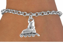 <bR>               EXCLUSIVELY OURS!!<Br>         AN ALLAN ROBIN DESIGN!!<BR>CLICK HERE TO SEE 120+ EXCITING<BR>   CHANGES THAT YOU CAN MAKE!<BR>              LEAD & NICKEL FREE!!<BR> W662SB -  ROLLERBLADE CHARM<Br> & BRACELET FROM $4.50 TO $8.35