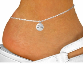 """<bR>               EXCLUSIVELY OURS!!<BR>         AN ALLAN ROBIN DESIGN!!<BR>CLICK HERE TO SEE 120+ EXCITING<BR>   CHANGES THAT YOU CAN MAKE!<BR>              LEAD & NICKEL FREE!!<BR>W664SAK - """"KEEP MY SON SAFE""""<BR>   & ANKLET FROM $4.50 TO $8.35"""