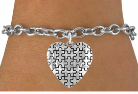 <bR>               EXCLUSIVELY OURS!!<Br>         AN ALLAN ROBIN DESIGN!!<BR>CLICK HERE TO SEE 120+ EXCITING<BR>   CHANGES THAT YOU CAN MAKE!<BR>              LEAD & NICKEL FREE!!<BR>        W665SB -  PUFFED AUTISM<Br> AWARENESS PUZZLE PIECE HEART<bR>           & BRACELET &#169;2010 FROM<bR>                       $4.50 TO $8.35