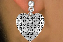 <bR>               EXCLUSIVELY OURS!!<Br>         AN ALLAN ROBIN DESIGN!!<BR>CLICK HERE TO SEE 120+ EXCITING<BR>   CHANGES THAT YOU CAN MAKE!<BR>              LEAD & NICKEL FREE!!<BR>        W665SE -  PUFFED AUTISM<Br> AWARENESS PUZZLE PIECE HEART<bR>          & EARRINGS &#169;2010 FROM<br>                     $3.70 TO $8.45