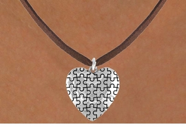 <bR>               EXCLUSIVELY OURS!!<Br>         AN ALLAN ROBIN DESIGN!!<BR>CLICK HERE TO SEE 120+ EXCITING<BR>   CHANGES THAT YOU CAN MAKE!<BR>              LEAD & NICKEL FREE!!<BR>        W665SN -  PUFFED AUTISM<Br> AWARENESS PUZZLE PIECE HEART<bR>          & NECKLACE FROM &#169;2010<bR>                      $4.50 TO $8.00