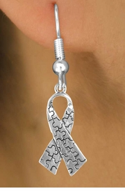 <bR>               EXCLUSIVELY OURS!!<Br>         AN ALLAN ROBIN DESIGN!!<BR>CLICK HERE TO SEE 120+ EXCITING<BR>   CHANGES THAT YOU CAN MAKE!<BR>              LEAD & NICKEL FREE!!<BR>  W666SE -  AUTISM AWARENESS<Br>PUZZLE PIECE RIBBON & EARRINGS<bR>       &#169;2010 FROM $3.70 TO $8.45