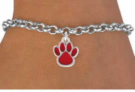 <bR>               EXCLUSIVELY OURS!!<Br>         AN ALLAN ROBIN DESIGN!!<BR>CLICK HERE TO SEE 120+ EXCITING<BR>   CHANGES THAT YOU CAN MAKE!<BR>              LEAD & NICKEL FREE!!<BR>     W667SB - SMALL RED PAW CHARM &<Br>   BRACELET FROM $4.50 TO $8.35