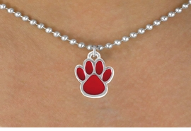 <bR>                 EXCLUSIVELY OURS!!<Br>           AN ALLAN ROBIN DESIGN!!<BR>  CLICK HERE TO SEE 120+ EXCITING<BR>     CHANGES THAT YOU CAN MAKE!<BR>                LEAD & NICKEL FREE!!<BR>       W667SN - SMALL RED PAW CHARM &<BR>     NECKLACE FROM $4.50 TO $8.35